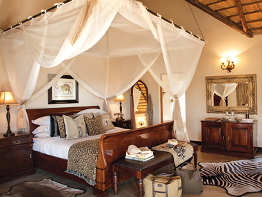 Luxury suite double bed Kings Camp Timbavati Game Reserve Accommodation Booking Hoedspruit Mpumalanga Five Star