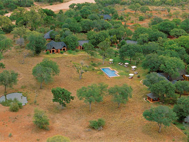 Aerial view Kings Camp Timbavati Game Reserve Accommodation Booking Hoedspruit Limpopo Mpumalanga Five Star