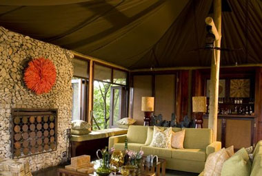 Ngala Tented Camp main lodge lounge Timbavati Game Reserve Mpumalanga Luxury South African Safari