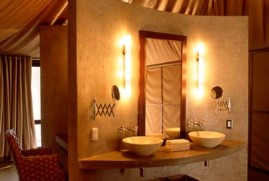 Ngala Tented Camp Timbavati Game Reserve Luxury Safari Tent bathroom Mpumalanga Luxury South African Safari