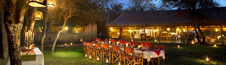 Outside Dining Tanda Tula Safari Camp Timbavati Game Reserve Mpumalanga Luxury South African Safari